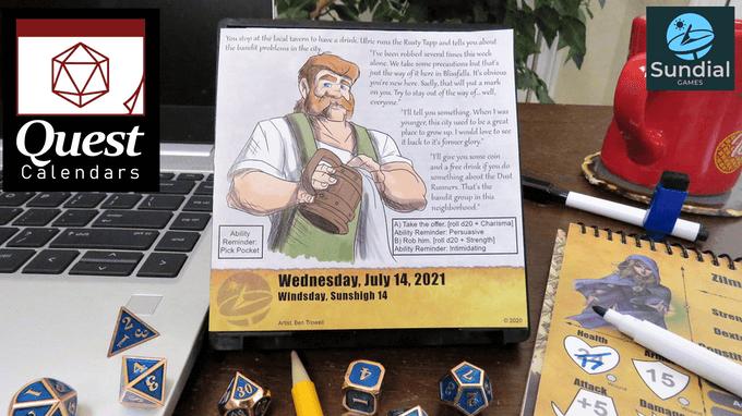 2022 Rut Calendar.Thrilling 2022 Quest Calendar Adds Daily Rpg Adventuring The Goodnerd